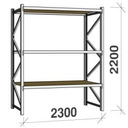Metallihylly orsilla 2200Hx2300L