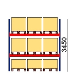 Kuormalavahylly H=3450 BASIC