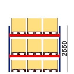 Kuormalavahylly  H=2550 BASIC