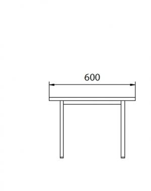 Istuinpenkki maalatulla teräslevyllä 600x290x420