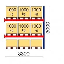Lavahylly jatko-osa 3000x3300 1000kg/lava,9 FIN lavapaikkaa OPTIMA