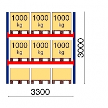 Lavahylly perusosa 3000x3300 1000kg/lava,9 FIN lavapaikkaa OPTIMA