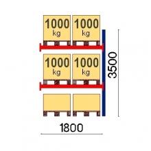 Lavahylly jatko-osa 3500x1800 1000kg/lava,6 EUR lavaa OPTIMA