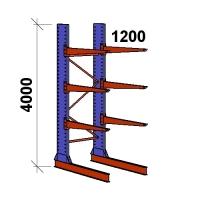 Ulokehylly perusosa 4000x1500x1200,4 tasoa