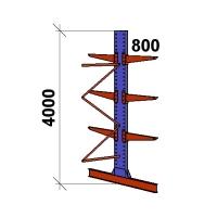 Ulokehylly jatko-osa 4000x1500x2x800,4 tasoa