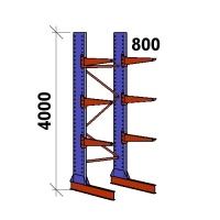 Ulokehylly perusosa 4000x1500x800,4 tasoa