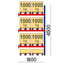 Lavahylly jatko-osa 4500x1800 1000kg/lava,8 EUR lavaa OPTIMA
