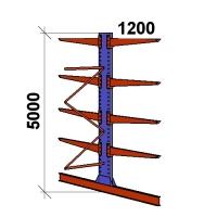 Ulokehylly jatko-osa 5000x1500x2x1200,5 tasoa