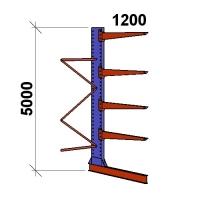 Ulokehylly jatko-osa 5000x1500x1200,5 tasoa