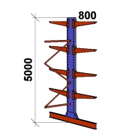 Ulokehylly jatko-osa 5000x1500x2x800,5 tasoa