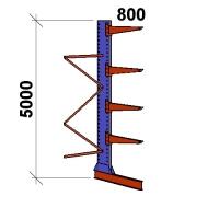 Ulokehylly jatko-osa 5000x1500x800,5 tasoa