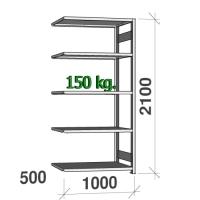Varastohylly jatko-osa 2100x1000x500 150kg/hyllytaso,5 tasoa