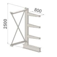 Ulokehylly jatko-osa 2500x1500x800,4 tasoa