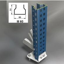 Kevytorsihyllyn pylväselementti 2500x1000 mm käytetty