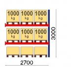Lavahylly jatko-osa 3000x2700 1000kg/lava, 9 EUR lavapaikkaa OPTIMA