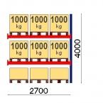 Lavahylly jatko-osa 4000x2700 1000kg/lava, 9 EUR lavapaikkaa OPTIMA
