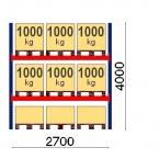 Lavahylly perusosa 4000x2700 1000kg/lava, 9 EUR lavapaikkaa OPTIMA