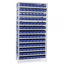 Laatikkohylly 2100x1000x300, 104 laatikkoa 300x120x95