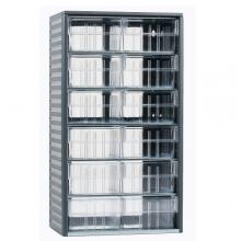 Lokerikko 12 muovilaatikolla 180x310x550