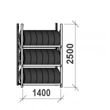 Rengashylly perusosa 2500x1400x500, 3 tasoa, 600kg/taso