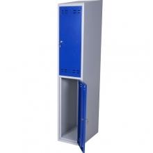 Pukukaappi 2:lla ovella 1920x350x550  sininen/harmaa