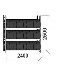 Rengashylly perusosa 2500x2400x500, 3 tasoa, 300kg/taso