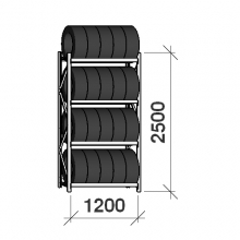 Rengashylly perusosa 2500x1200x500, 4 tasoa, 600kg/taso