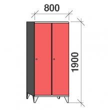 Pukukaappi 2:lla ovella 1900x800x545 pitkäovinen