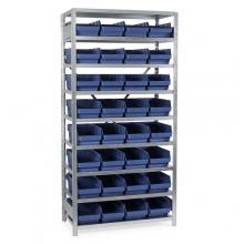 Laatikkohylly 2100x1000x400, 32 laatikkoa 400x240x150