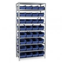 Laatikkohylly 2100x1000x600, 32 laatikkoa 600x240x150