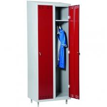 Pukukaappi 2:lla ovella 1920x700x550 punainen/harmaa