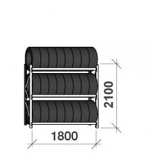 Rengashylly perusosa 2100x1800x500, 3 tasoa,480kg/taso