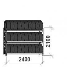 Rengashylly perusosa 2100x2400x500, 3 tasoa, 300kg/taso