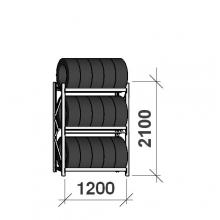 Rengashylly perusosa 2100x1200x500, 3 tasoa, 600kg/taso