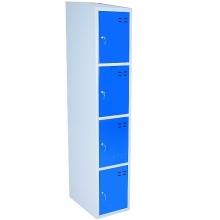 Lokerokaappi 4:lla ovella 1920x350x550  sininen/harmaa