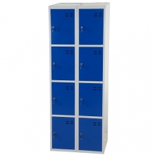 Lokerokaappi 8:lla ovella  1920x700x550  sininen/harmaa