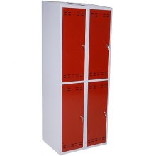 Pukukaappi 4:lla ovella 1920x700x550  punainen/harmaa