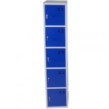 Lokerokaappi 5:lla ovella 1920x350x550  sininen/harmaa