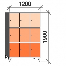 Lokerokaappi 9:lla ovella 1900x1200x545