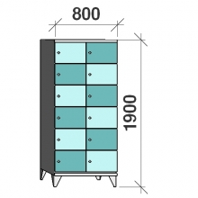 Lokerokaappi 12:lla ovella 1900x800x545