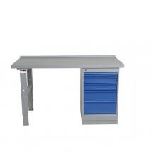 Työpöytä 1600x800 5-osaisella laatikostolla, tammiparketti