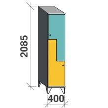 Z-kaappi 2:lla ovella 2085x400x545 viistokatolla