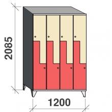 Z-kaappi 8:lla ovella 2085x1200x545 viistokatolla