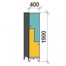 Z-Kaappi 2:lla ovella 1900x400x545 pitkäovinen
