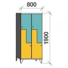 Z-Kaappi 4:lla ovella 1900x800x545 pitkäovinen