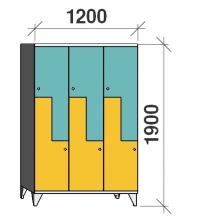 Z-Kaappi 6:lla ovella 1900x1200x545 pitkäovinen