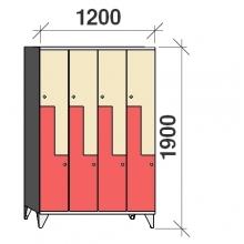 Z-Kaappi 8:lla ovella 1900x1200x545 pitkäovinen