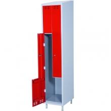 Z-Kaappi 2:lla ovella 1920x400x550  punainen/harmaa